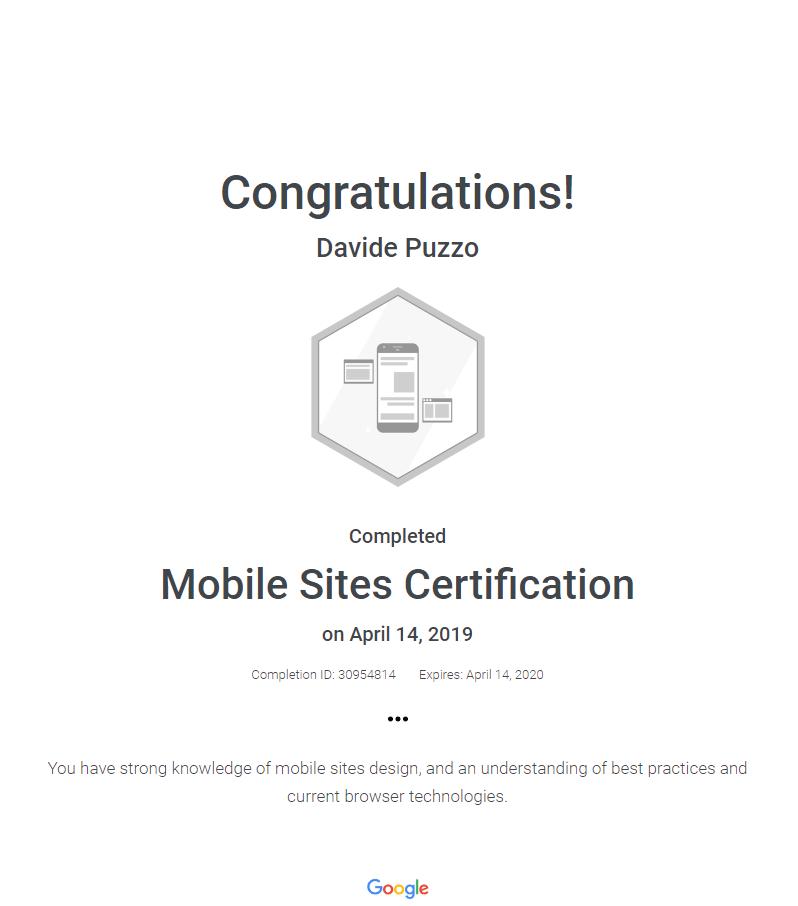 certificato-google-mobile-site-davide-puzzo