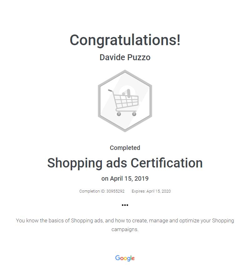 certificato-google-shopping-davide-puzzo