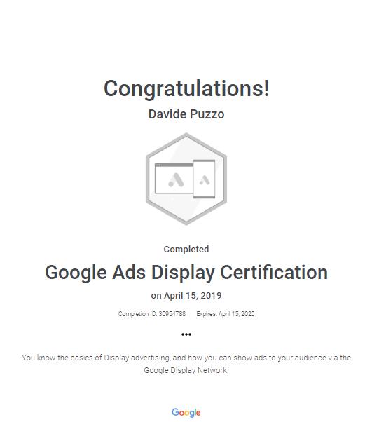 certificato-ads-display-network-davide-puzzo