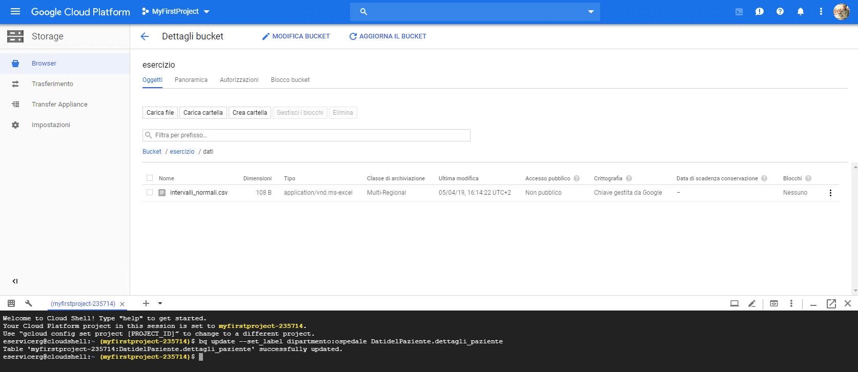 Le etichette, labels, di Google BigQuery - e-Service
