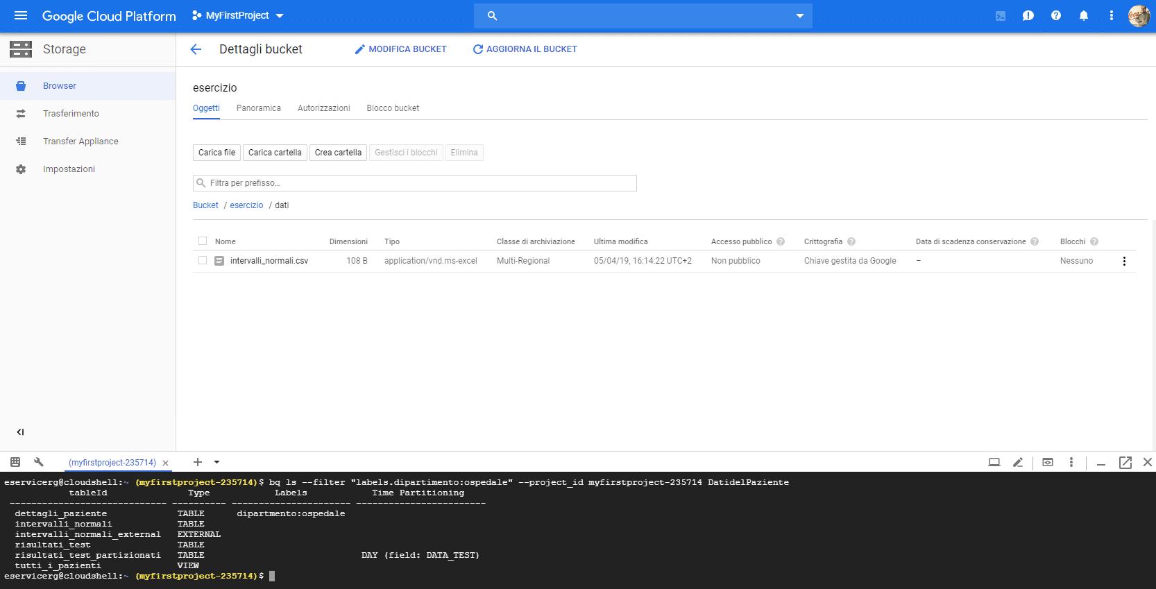 iltrare etichette o labels su Google BigQuery - e-Service