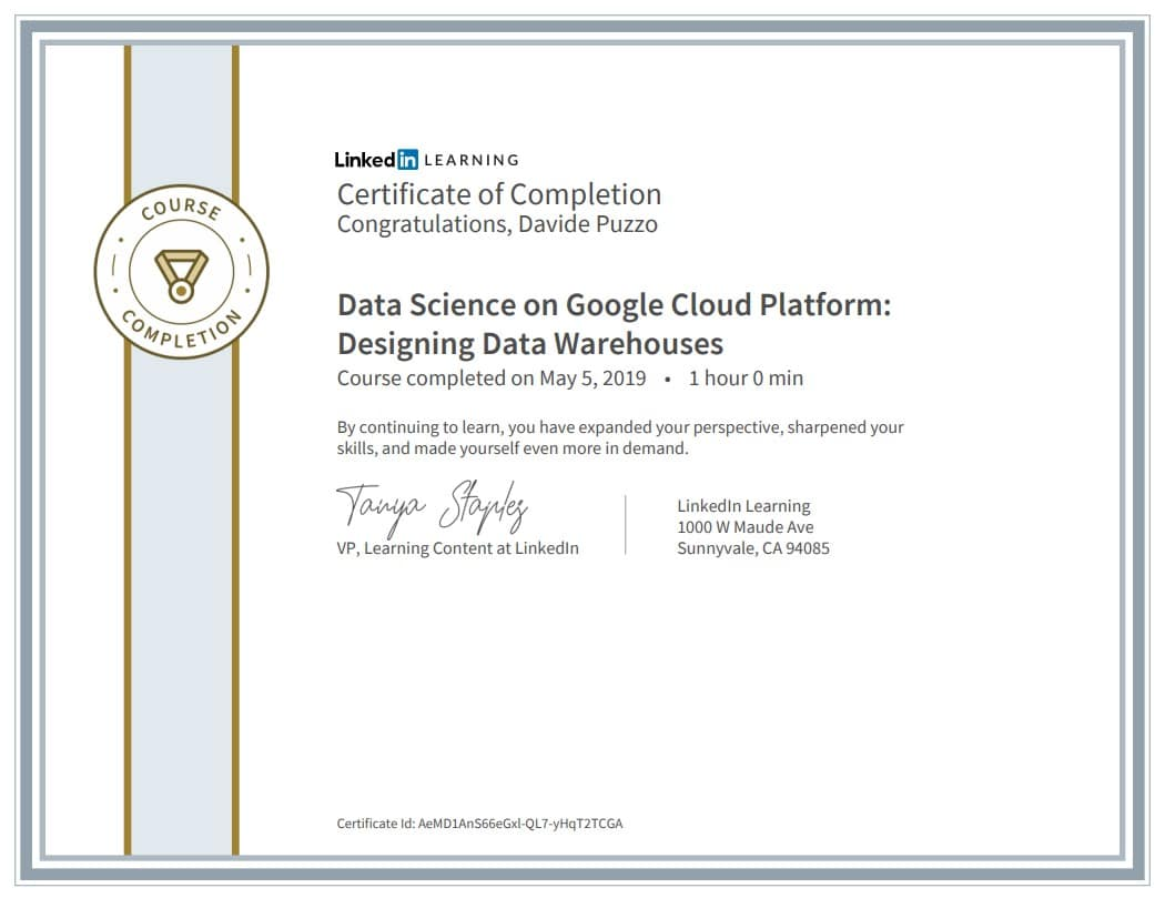 Data Science on Google Cloud Platform: Designing Data Warehouses